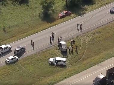The chase ended in Johnson County near Alvarado.