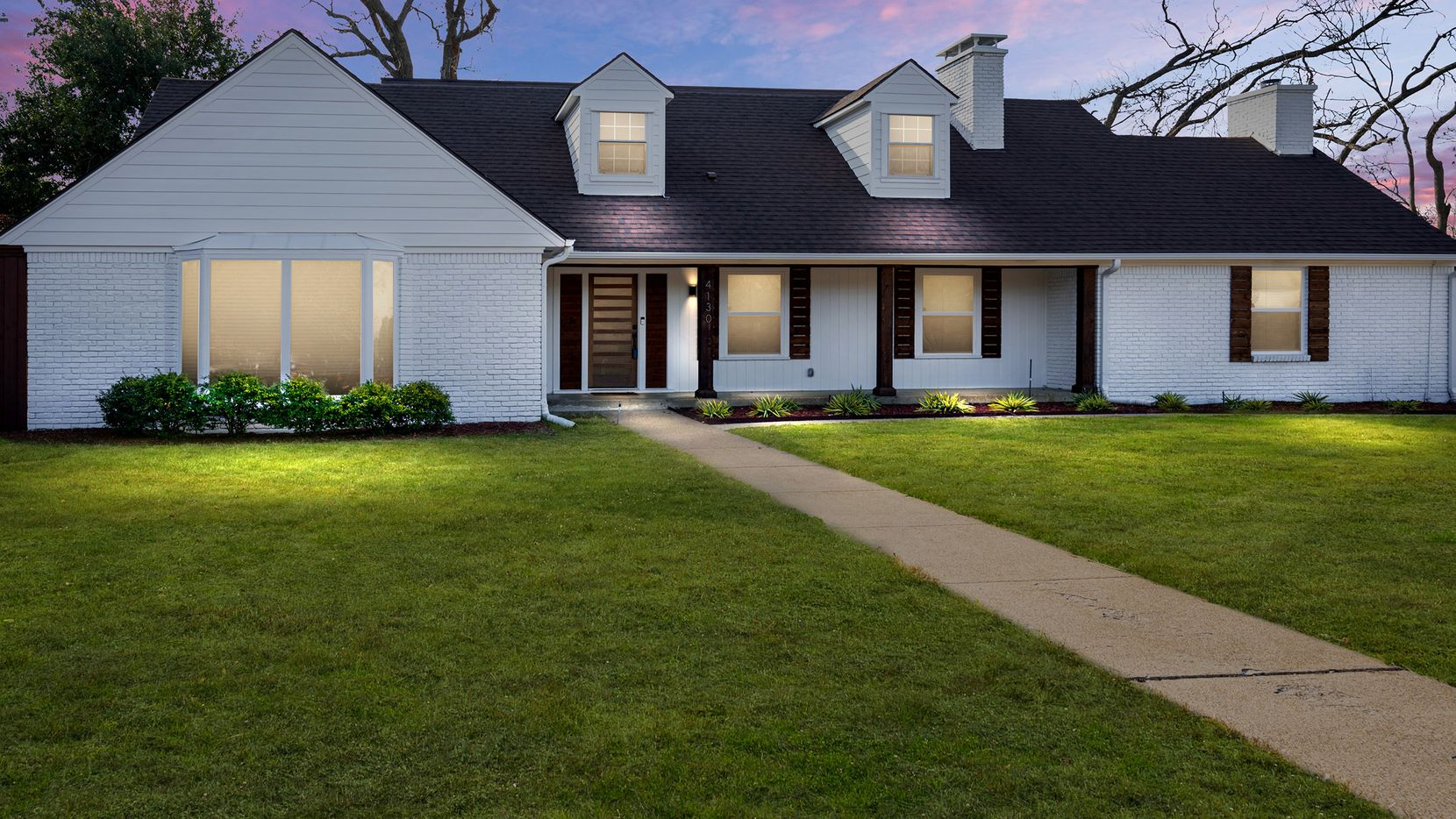 The remodeled home at 4130 Walnut Hill Drive has four bedrooms and a large backyard.