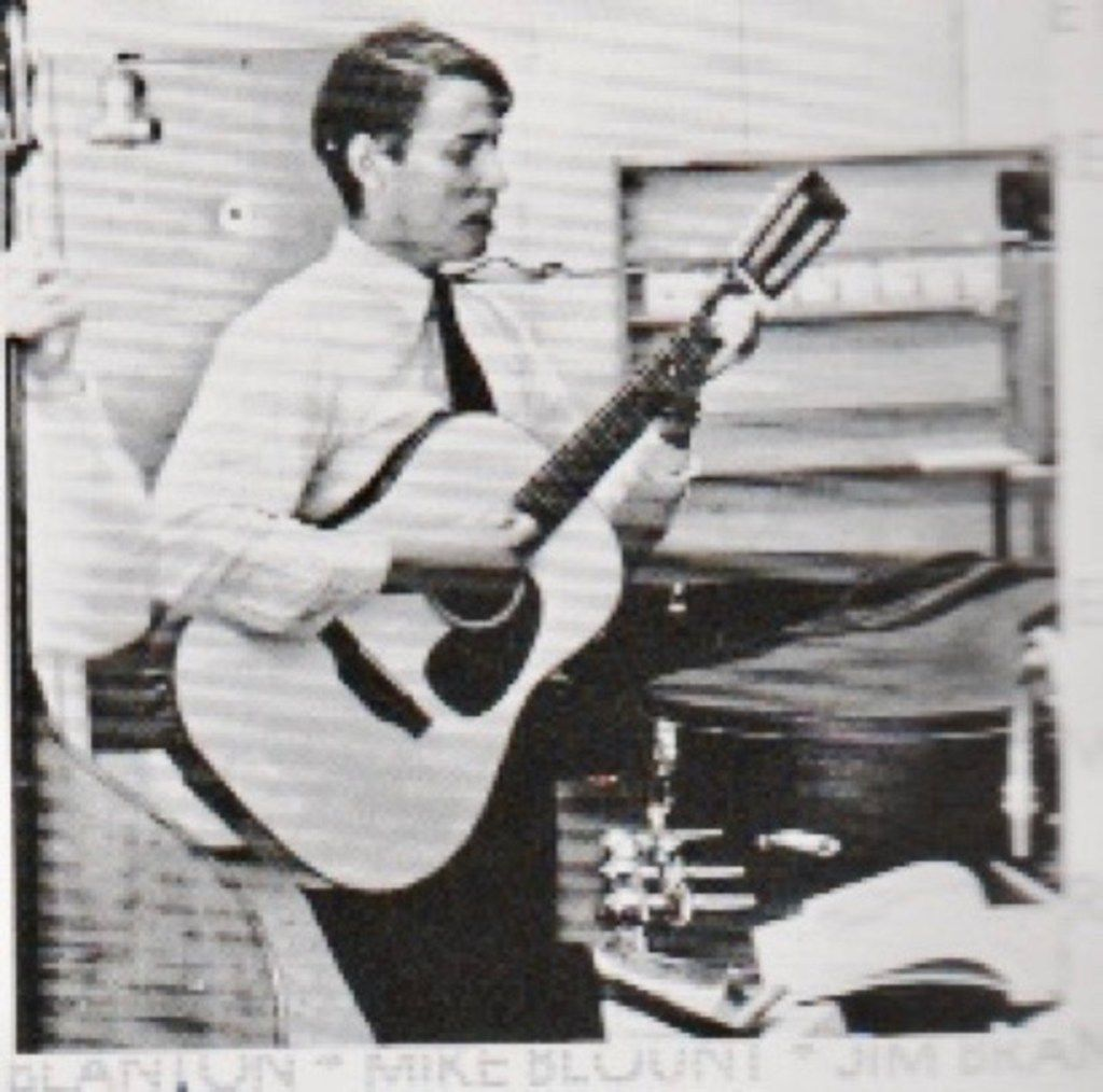 This picture, which appeared in the 1966 St. Mark's School of Texas yearbook, shows Chris Kershaw, the father of Dodgers great Clayton Kershaw, playing a 12-string guitar.