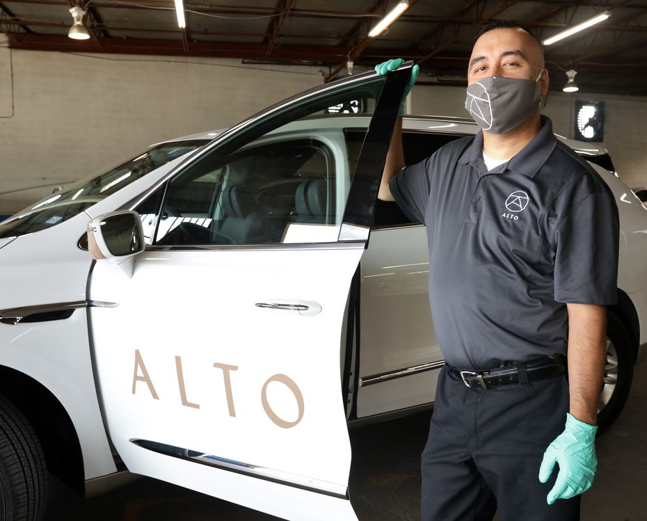 "Alto drivers will pick up food from any restaurant and deliver it to people in the Dallas area. It's part of the ""concierge"" service."