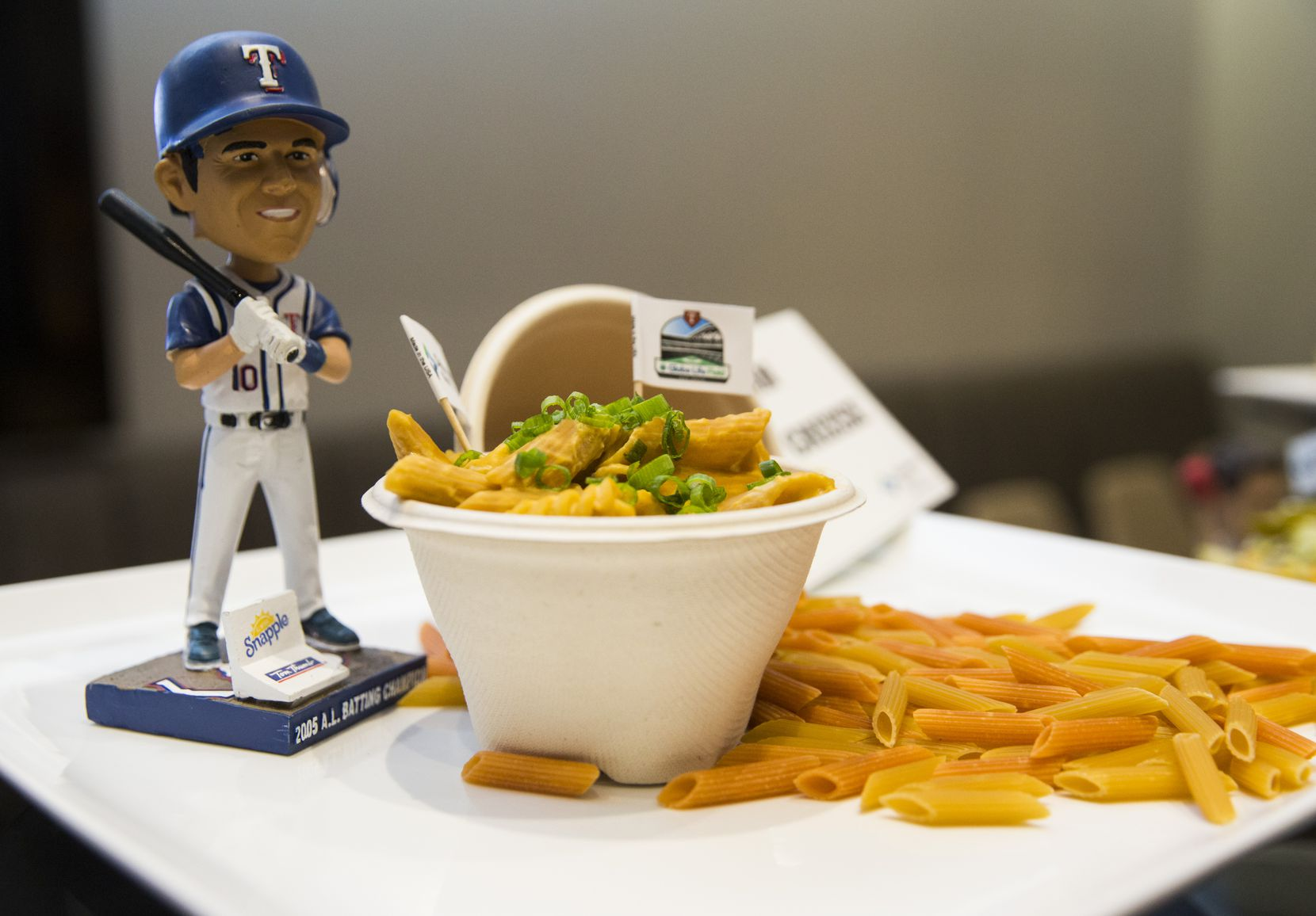 Vegan mac and cheese made the cut at for the 2020 concessions at the Rangers' new ballpark, Globe Life Field.