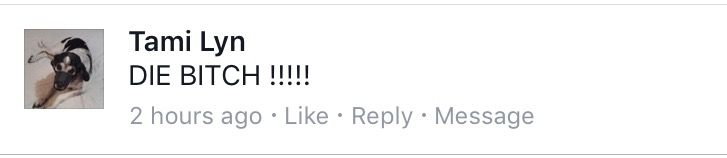 A comment directed at Rep. Victoria Neave over her planned hunger strike.
