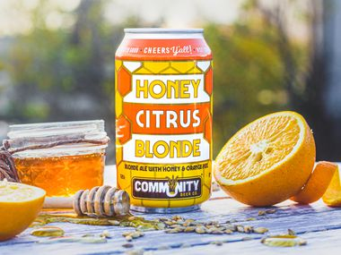 The new Honey Citrus Blonde from Community Beer Co.