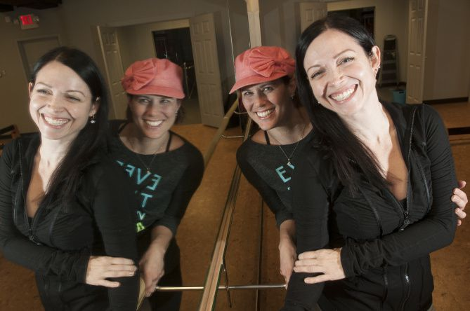 After Karen Soltero (front) and her childhood friend, Molly Setnick, started Crowbar Cardio, Soltero contracted a flesh-eating bacteria that almost took her life.