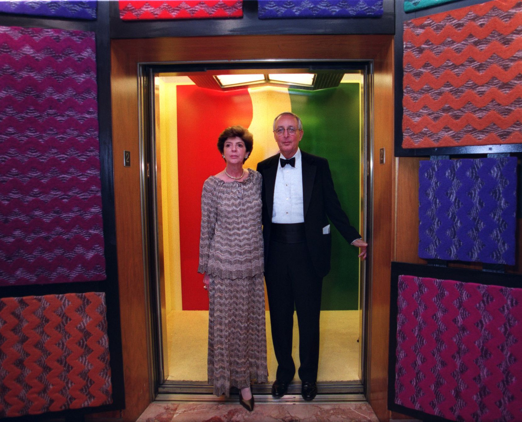 Carolyn and Roger Horchow at the Festa D'Italia opening gala at Neiman Marcus in 1999.