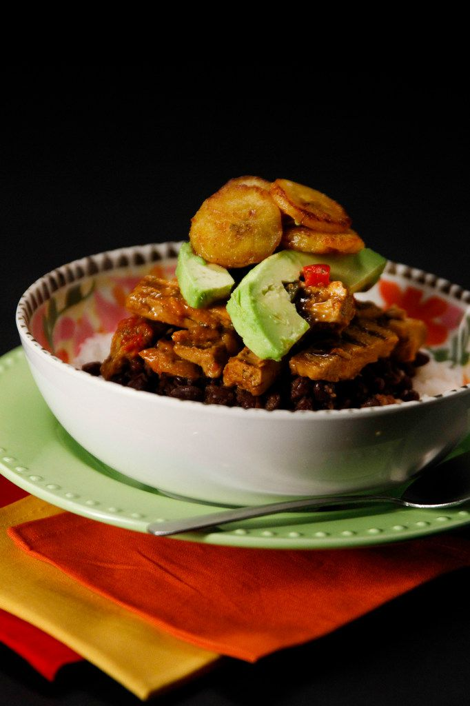 Soulgood Vegan Food Truck owner Chef Cynthia Nevels' 100 percent vegan Havana Bowl is made with white rice, beans, a plant-based chicken substitute, avocado and plantains.