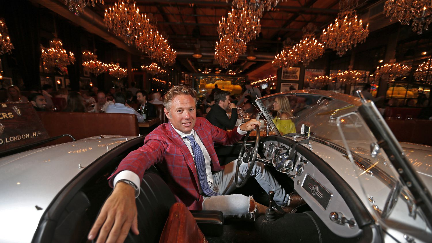 Nick Badovinus poses for photograph in the MG at Town Hearth in Dallas, Wednesday, June 21, 2017. (Jae S. Lee/The Dallas Morning News)