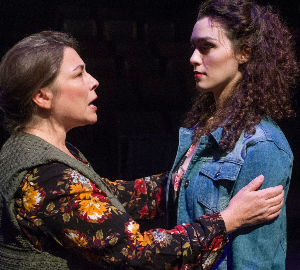 Real-life mother and daughter Kelly Winstead Miyake (lef) and Cora Grace Winstead play the mother and daughter in Once at Theatre Three.