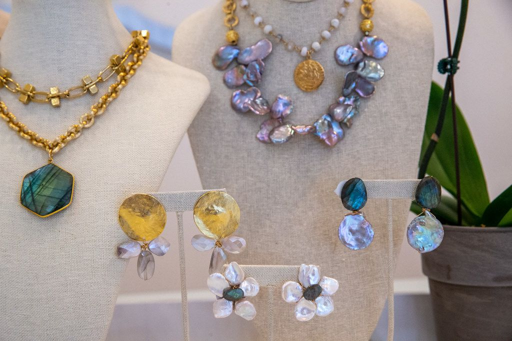 A collection of jewelry designed by Kori Green at Local Design Studios in Fort Worth