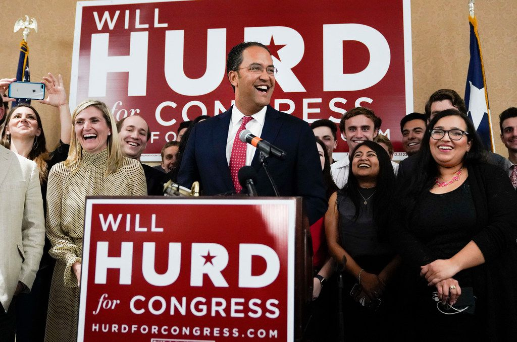 Rep. Will Hurd, R-Helotes, speaks during his election night victory party on Nov. 6, 2018, in San Antonio. Hurd defeated Democratic challenger Gina Ortiz Jones.