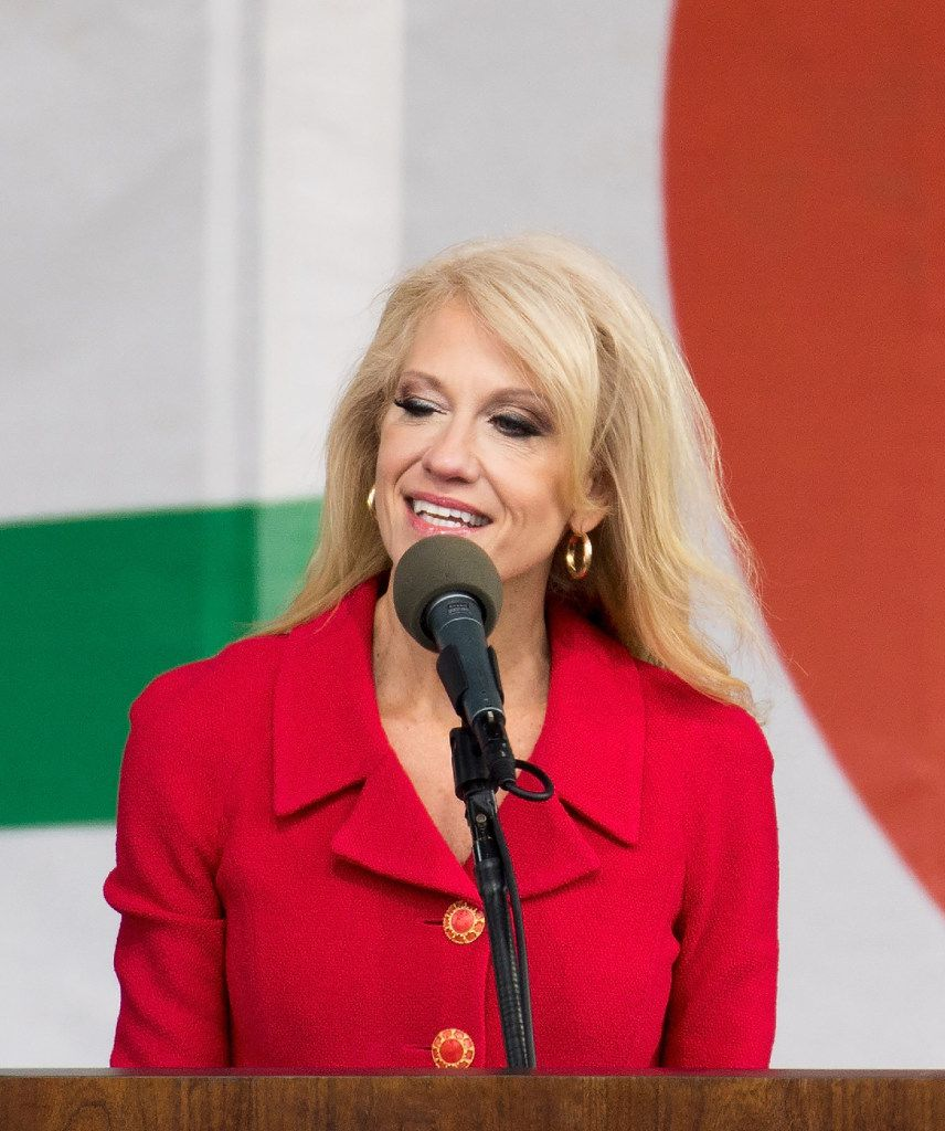"Kellyanne Conway, who managed Donald Trump's successful presidential campaign and is now a White House counselor, invented the term ""alternative facts"" for her boss. (Tasos Katopodis/Agence France-Presse)"