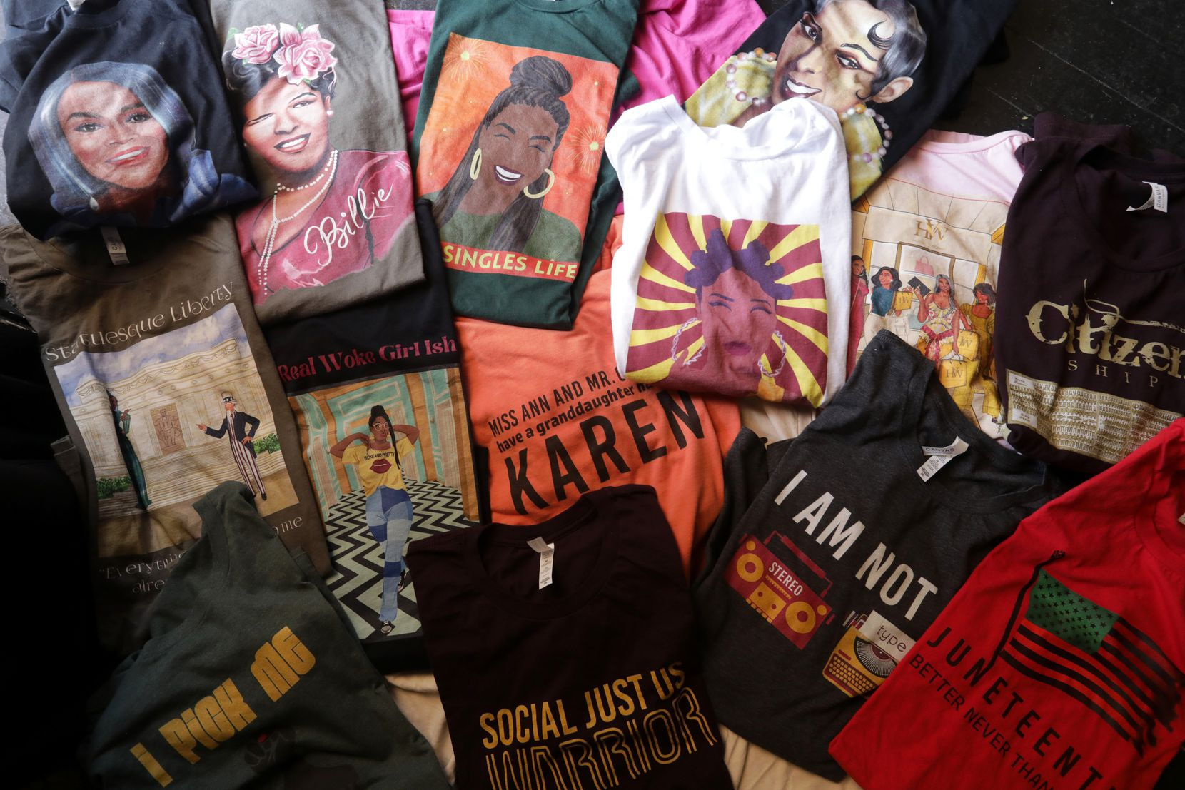 """Sydney Plant's t-shirt lines include """"Of the culture"""" and """"Emancipation"""" collections."""