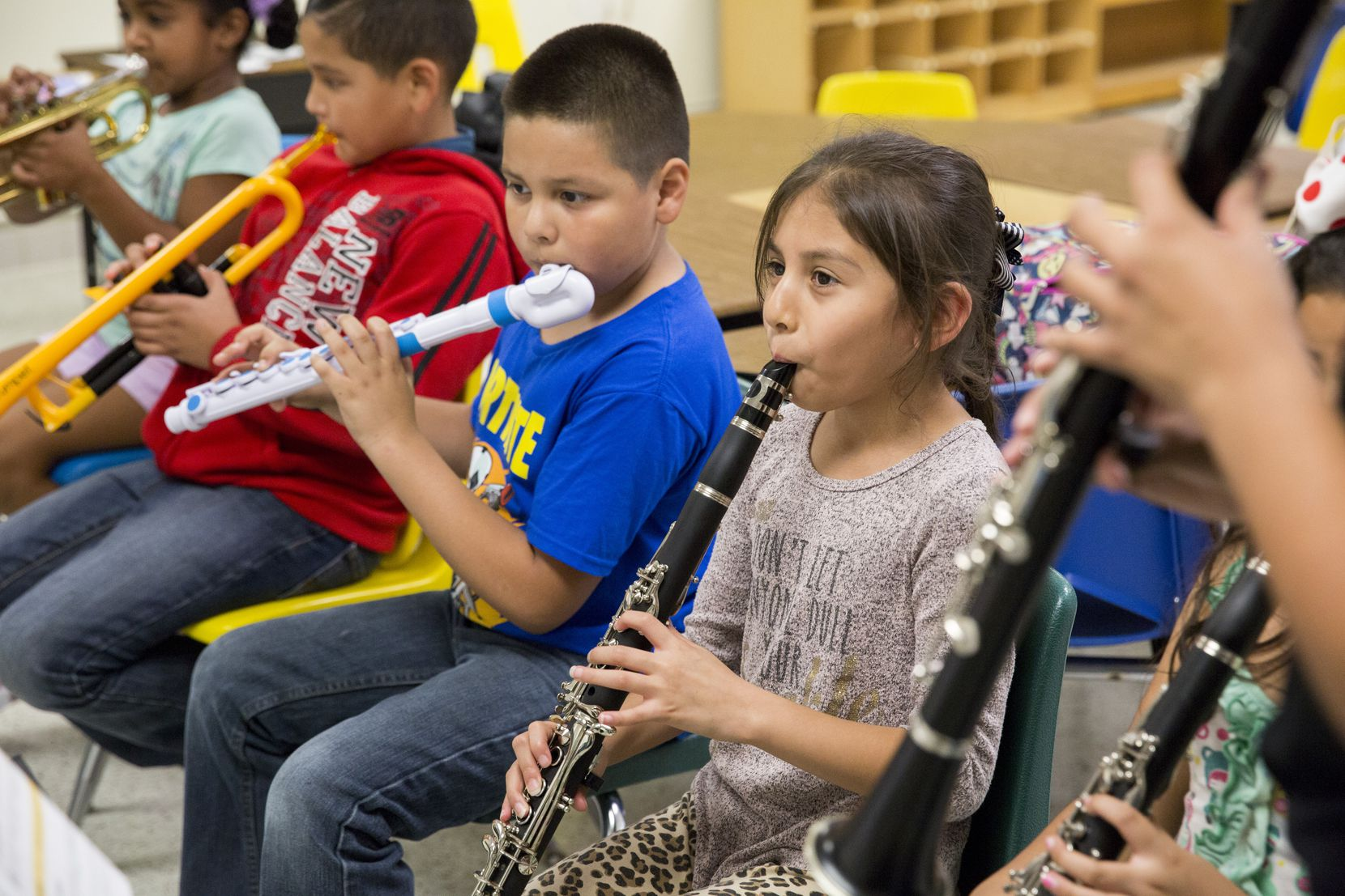 Students learn instruments as part of the DSO Young Musicians program.