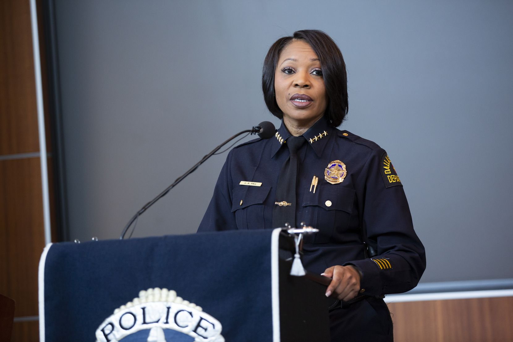 """It is imperative that we operate with the highest level of ethics and integrity to ensure that the public is confident in the legitimacy of who we are as a law enforcement agency,"" Dallas Police Chief U. Reneé Hall said in January."