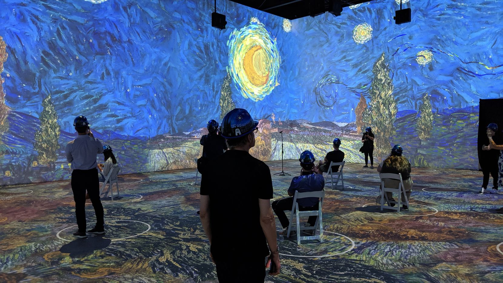 """""""Starry Night"""" is one of the Dutch artist's paintings that has been deconstructed and rebuilt as video projections for """"Immersive Van Gogh Exhibit,"""" a commercial enterprise taking its cues from the immersive theater trend."""