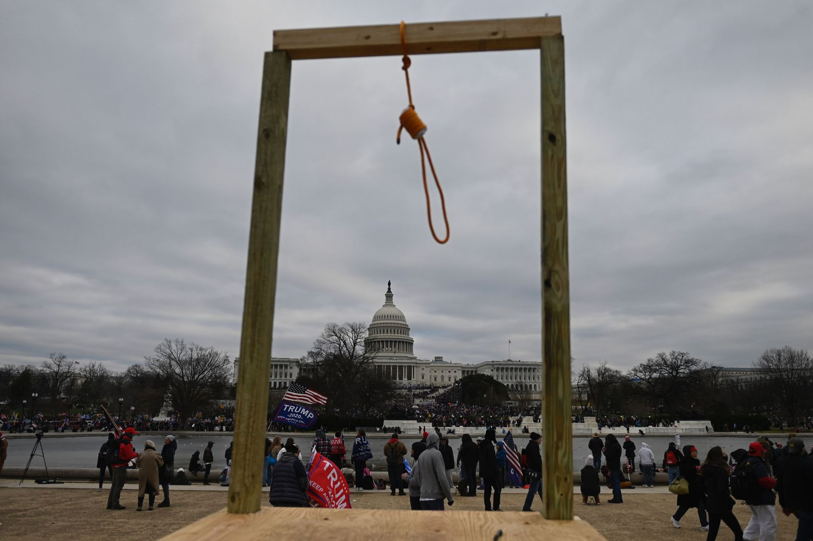 Supporters of US President Donald Trump gather on the West side of the US Capitol in Washington DC on January 6, 2021. - Demonstrators breeched security and entered the Capitol as Congress debated the a 2020 presidential election Electoral Vote Certification. (Photo by ANDREW CABALLERO-REYNOLDS / AFP) (Photo by ANDREW CABALLERO-REYNOLDS/AFP via Getty Images)