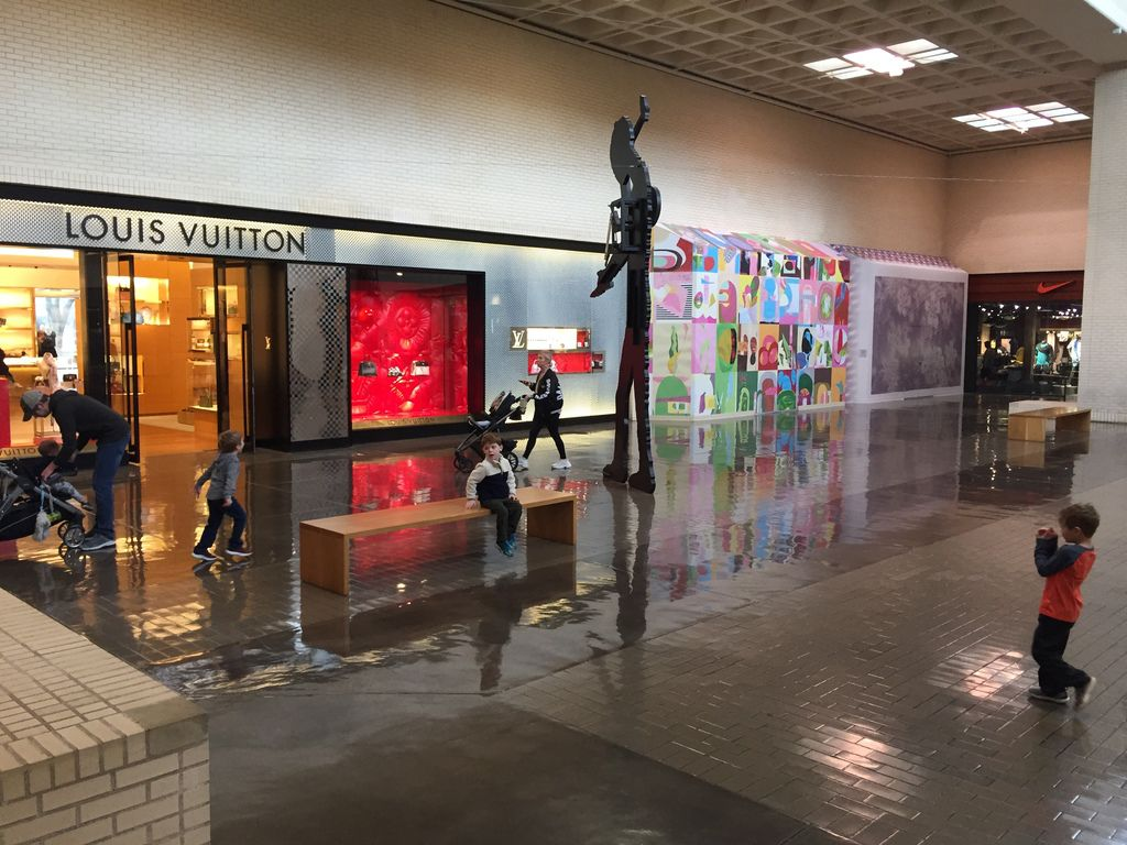 The Louis Vuitton store at NorthPark Center is about to get bigger. It will be taking in the two empty spaces photographed here leading to the Nike store. The work is expected to be completed late this year.