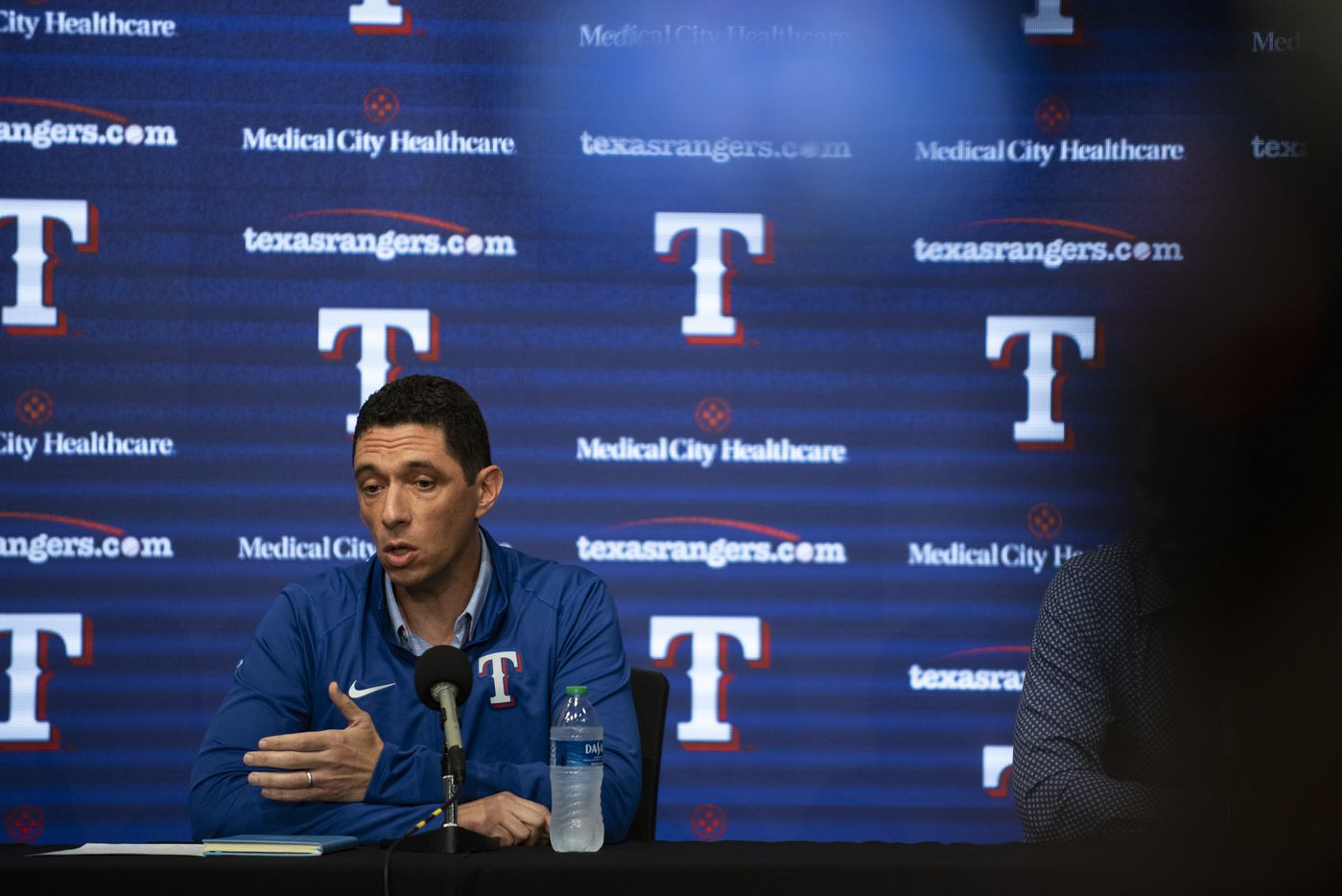 Texas Rangers President of Baseball Operations Jon Daniels answers questions during the Texas RangersÕ end of the year press conference at Globe Life Field on Wednesday, October 6, 2021 in Arlington, Texas. (Emil Lippe/Special Contributor)