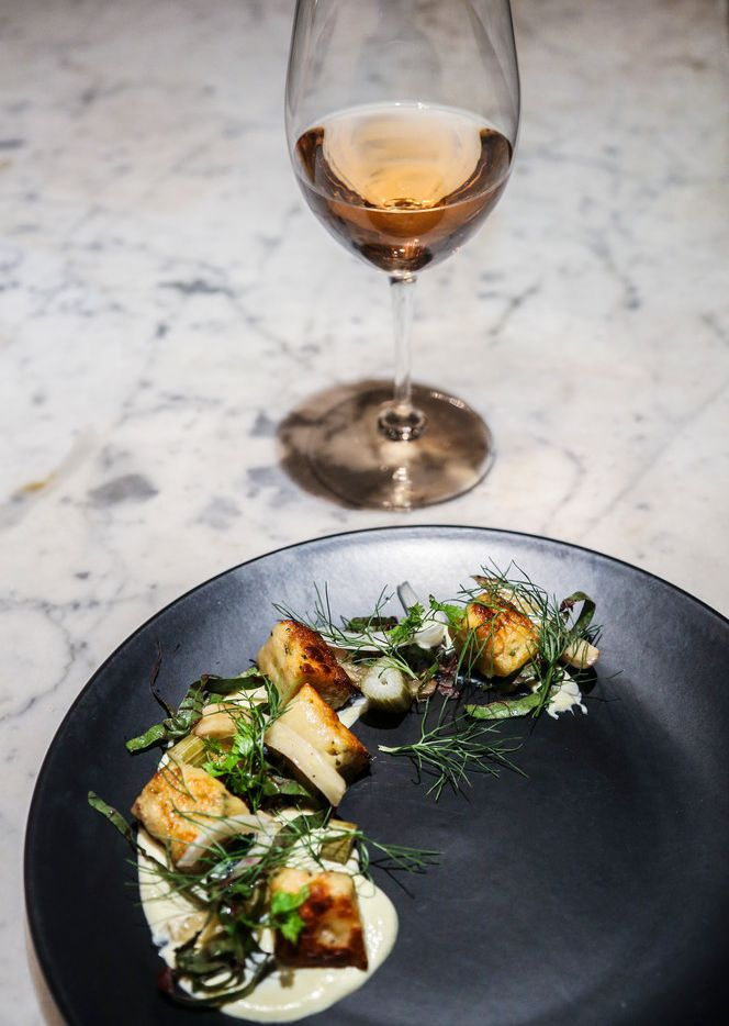 Chef Nick Amoriello's Yukon gnocchi with garlic, pickled fennel, lemon and swiss chard will change seasonally.