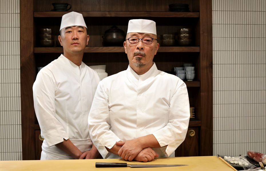 Jimmy Park, left, is joined by executive chef Shinichiro Kondo at Shoyo.