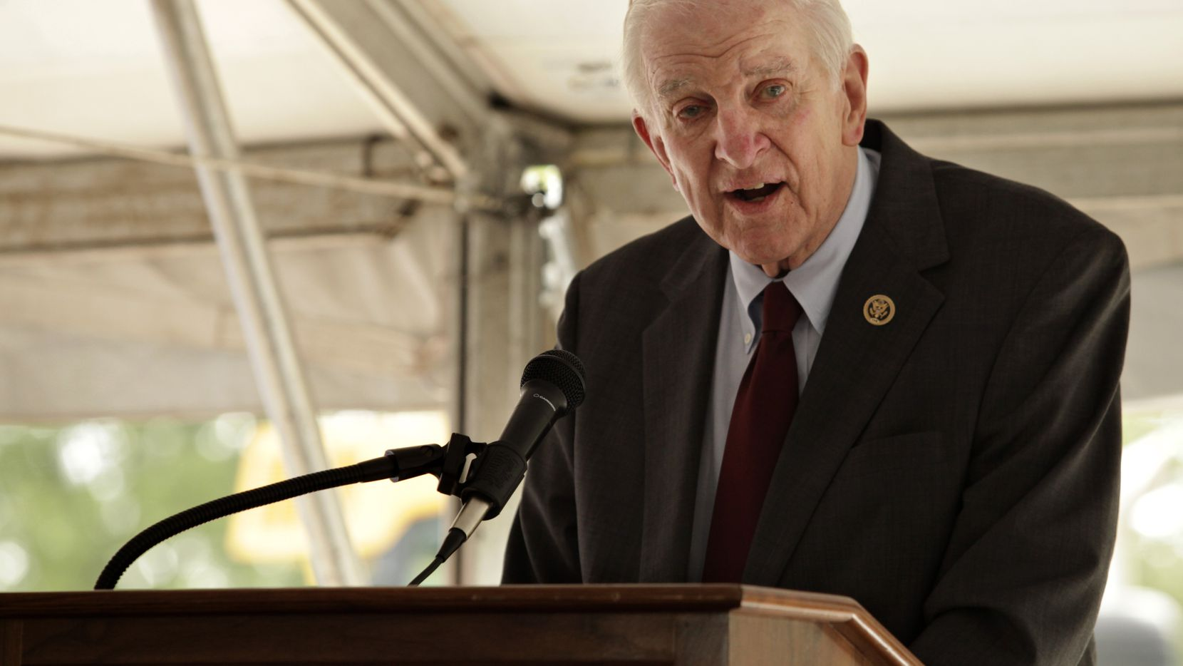 """The Plano office of U.S. Rep. Sam Johnson, R-Plano, will be accepting old and worn U.S. flags through his new program, """"Honor Our Stars and Stripes."""""""