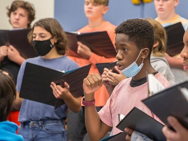 The Faubion Middle School Cambiata Tenor-Bass Choir has been selected as one of four in the state for a prestigious honor.