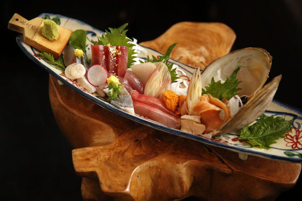 A sashimi assortment at Tei-An