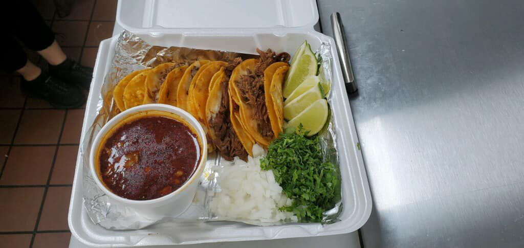 An order of tacos from Ixta-Tacos is pictured.