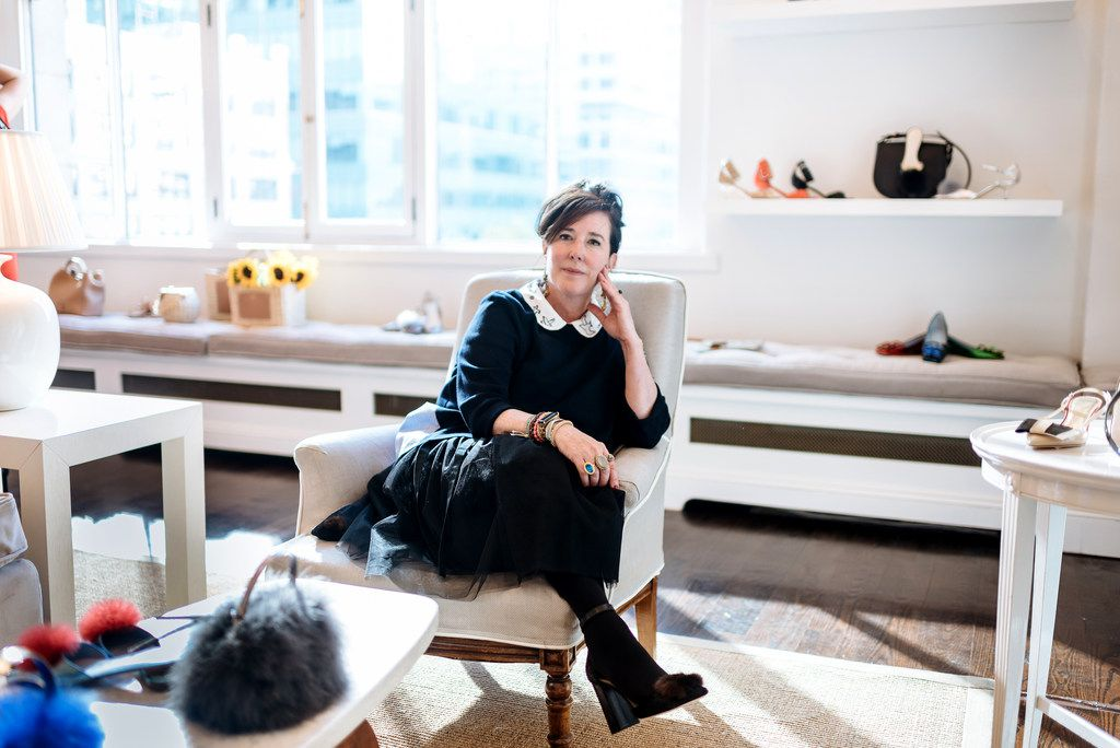 Kate Spade in 2016 as she debuted her new accessories line, Frances Valentine, in New York. The designer drew fans with bright, clean looks that eschewed the '90s dour minimalism. And publicly, at least, she embodied her brand.