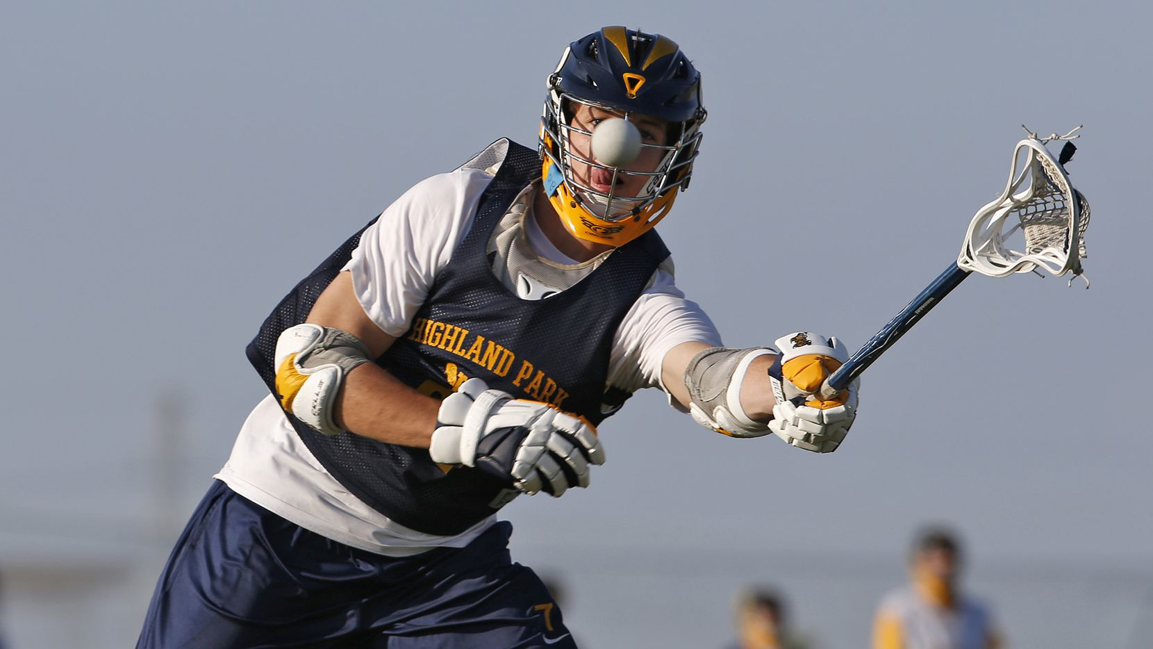 Highland Park lacrosse players work on drills during practice at MoneyGram Park in Dallas on May 11.
