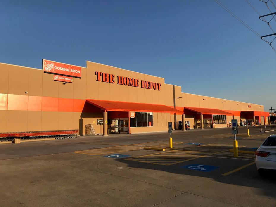 The newly rebuilt Home Depot store on Forest Lane just east of North Central Expressway in Dallas. It will reopen on Oct. 8.
