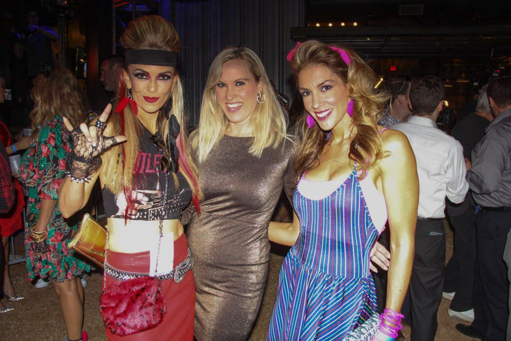 Groups of friends attended thethe #TBT to the '80s party on Thursday at the Rustic.