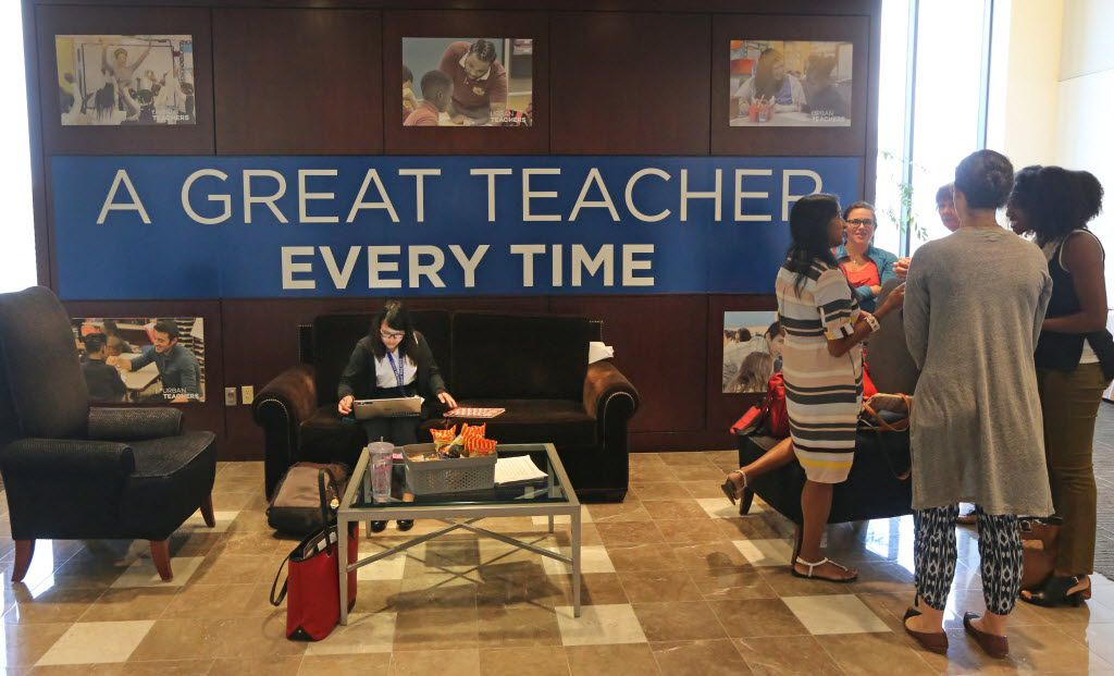 This was the scene at the Urban Teachers offices in Dallas, as DISD welcomed the first class of urban teachers into its classrooms this year.