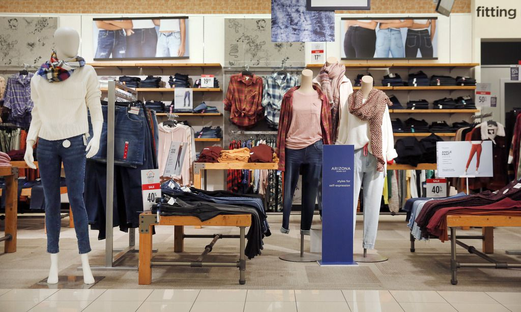 The women's Arizona Jeans Co. brand clothing is on display inside the J.C. Penney at Timber Creek Crossing in Northeast Dallas, Thursday, January 16, 2020. (Tom Fox/The Dallas Morning News)