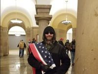 Daniel Phipps inside the Capitol building on Jan. 6.