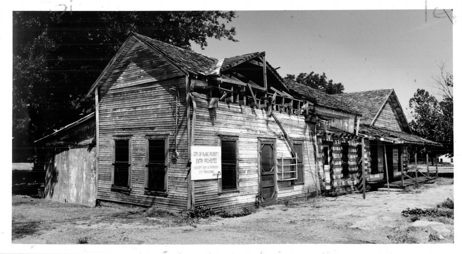 Old dilapidated general store on Ave. K near 18th street in Plano