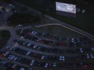 Cars fill Galaxy Drive-In on May 2, 2020 in Ennis.