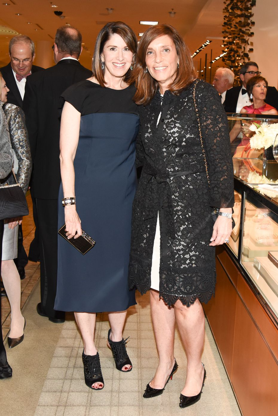 Karen Katz (left), retired CEO of Neiman-Marcus, with Maryann Mihalopoulos.