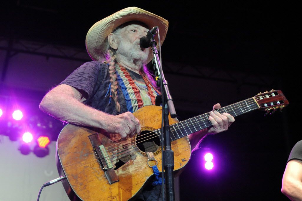 Willie Nelson performing at the 41st Annual Willie Nelson's 4th of July Picnic in Fort Worth in 2014.