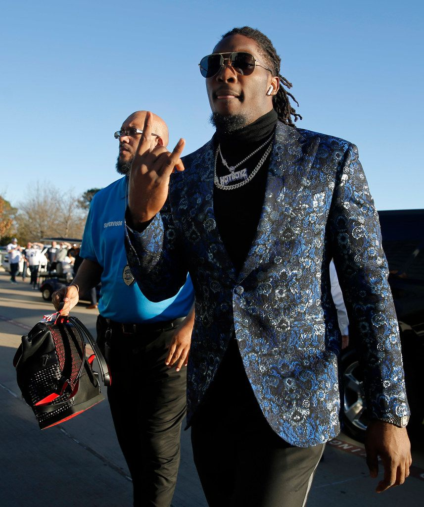 Dallas Cowboys defensive end Demarcus Lawrence arrives at AT&T Stadium in Arlington, Texas for their NFC Wild Card game against the Seattle Seahawks, Saturday, January 5, 2019. (Tom Fox/The Dallas Morning News)
