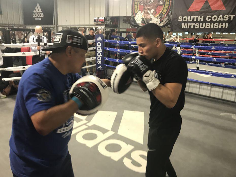 Vergil Ortiz Jr. prepara su pelea del 13 de diciembre ante Brad 'King' Solomon en Indio, California.