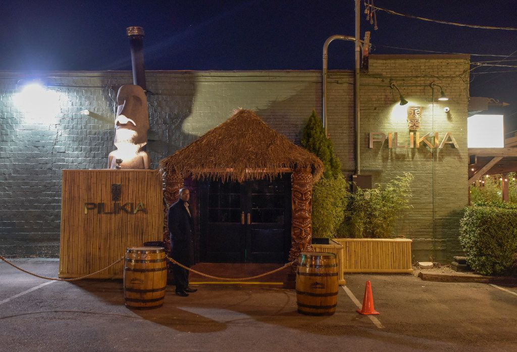The entrance to Pilikia, a tiki bar on Ross Ave., open in the former Three Sheets location.