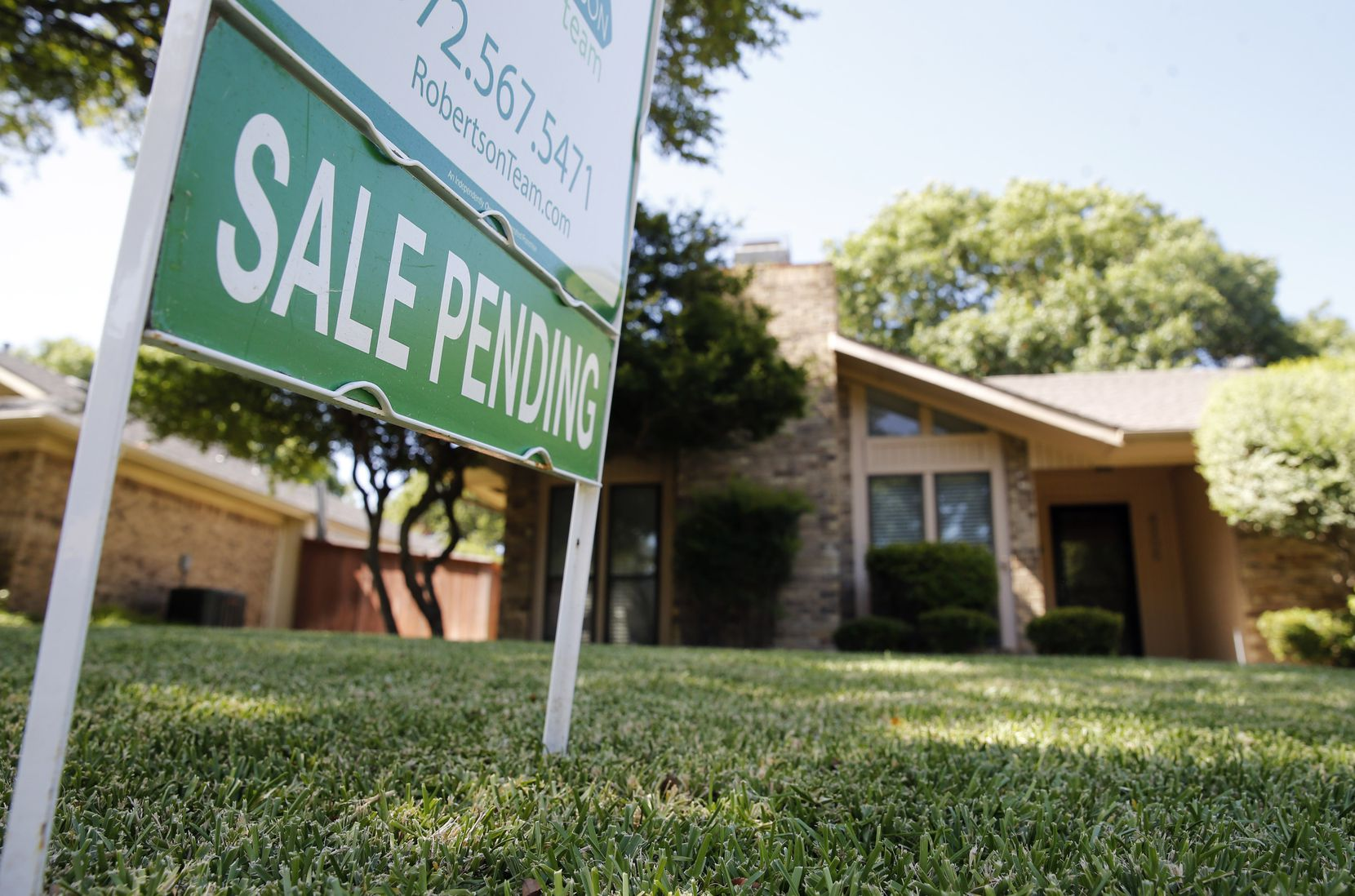 Home for sale   in Plano on Monday, August 10, 2020. Home sales in North Texas exploded in July, rising 25% from a year ago to the largest ever single-month sales total.