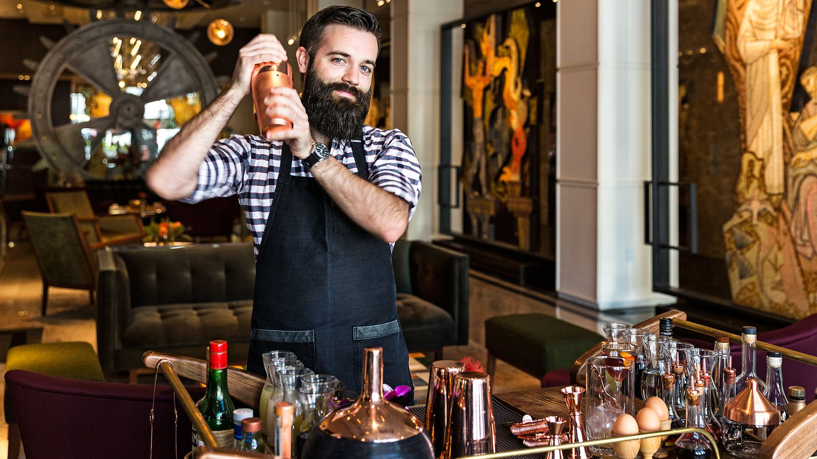 Ian Reilly, 27, beverage supervisor at the Joule hotel