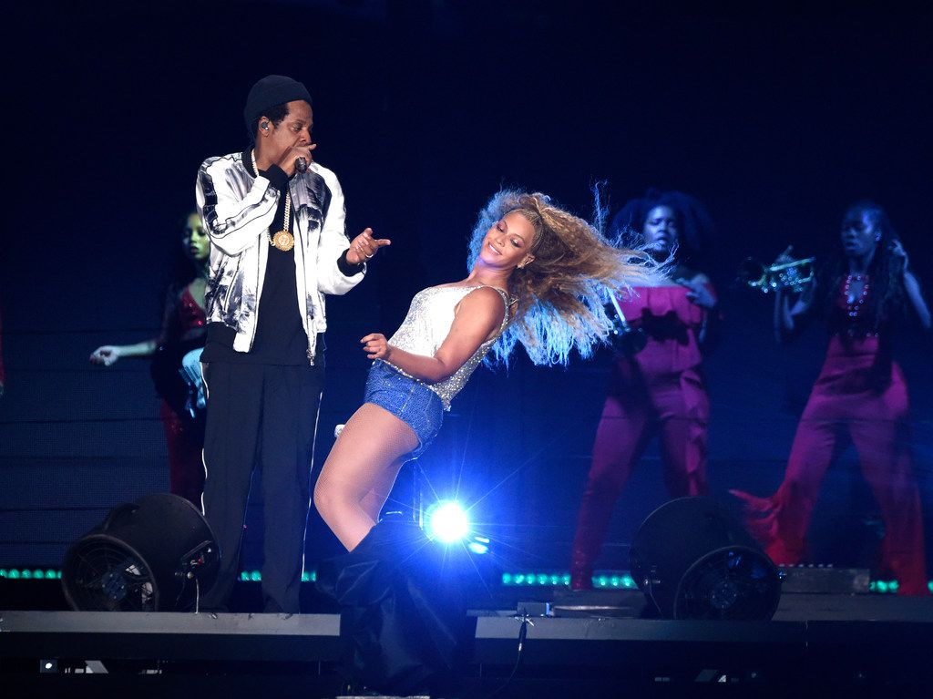 Beyonce and Jay-Z perform during their On the Run II tour at MetLife Stadium in East Rutherford, N.J. in August. They brought the same show to AT&T Stadium in Arlington on Tuesday, Sept. 11, 2018.