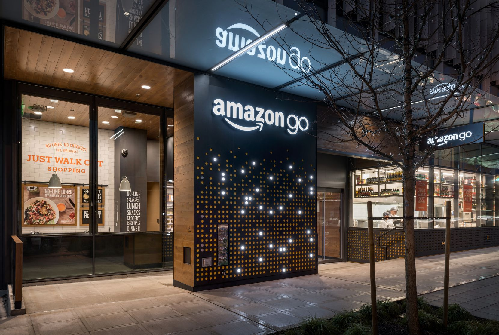 Amazon Go is a convenience store with no lines and no cashiers. This store is being tested by Amazon employees in Seattle. It won't be ready for the public until early next year. This pilot store is located at 2131 7th Avenue in Seattle.