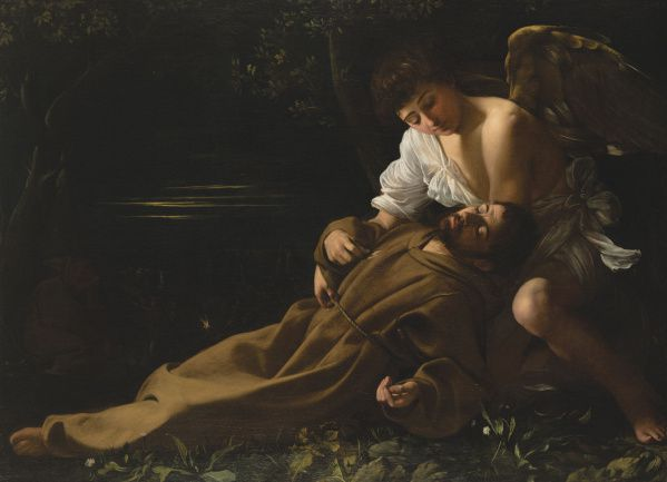 Saint Francis in Ecstasy, c. 1594-95 oil on canvas