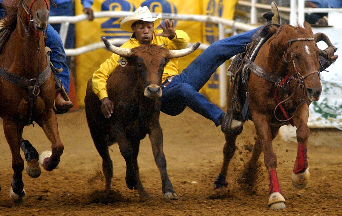 Steer wrestling will be one of the events the Texas Black Invitational Rodeo.