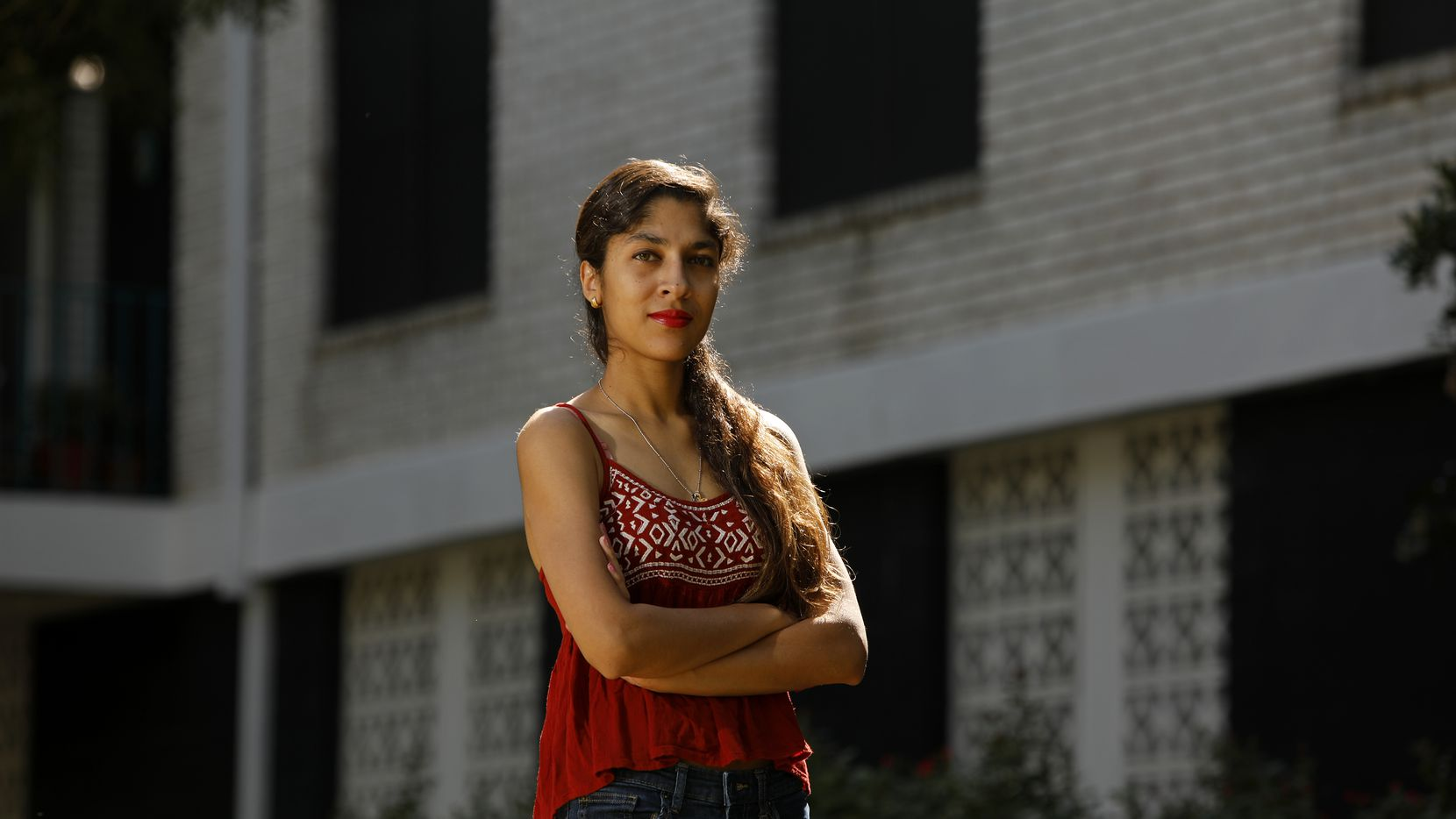 Nikita D'Monte, 27, is a University of Texas Dallas graduate from India who came to the U.S. on a student visa and received her Masters in Humanities-Studies in Literature. Like many other foreign students, she's had trouble finding a job.      (Edward A. Ornelas/Special Contributor)