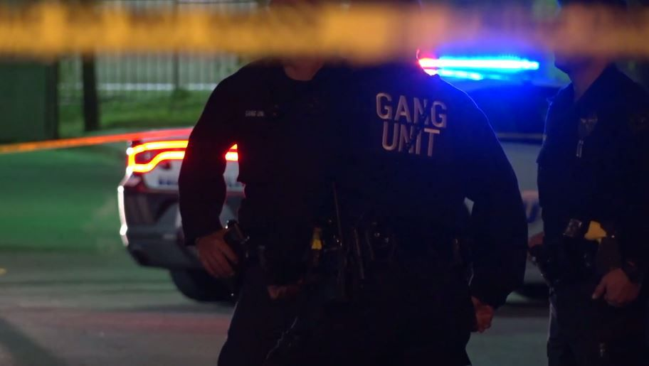 An image from the scene taken from footage shot by Metro Video Dallas/Fort Worth.
